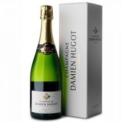 Champagne Damien Hugot Brut blanc de blancs 'Grand Cru' in luxe geschenkdoos