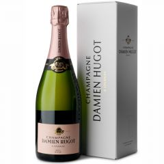 Champagne Damien Hugot Brut Rose in luxe geschenkdoos