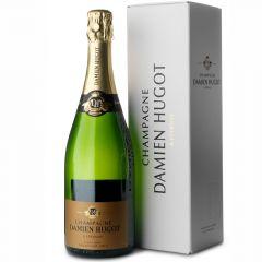 Champagne Damien Hugot Extra Brut Millésime 2015 in luxe geschenkdoos