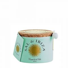 Fleur de Sel - Sal de Ibiza Keramische pot met lepeltje 150 gram